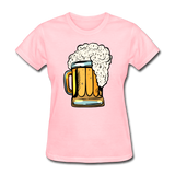 Foamy Beer Mug - Women's T-Shirt - pink