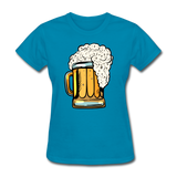 Foamy Beer Mug - Women's T-Shirt - turquoise