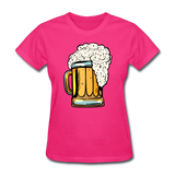 Foamy Beer Mug - Women's T-Shirt - fuchsia