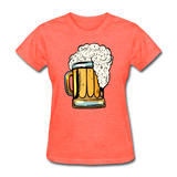 Foamy Beer Mug - Women's T-Shirt - heather coral