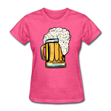 Foamy Beer Mug - Women's T-Shirt - heather pink