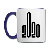 2020 - Black - Bold - Contrast Coffee Mug - white/cobalt blue