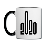 2020 - Black - Bold - Contrast Coffee Mug - white/black