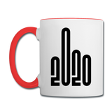 2020 - Black - Bold - Contrast Coffee Mug - white/red