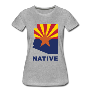 "Arizona ""NATIVE"" - Women's Premium T-Shirt - heather gray"