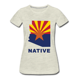 "Arizona ""NATIVE"" - Women's Premium T-Shirt - heather oatmeal"