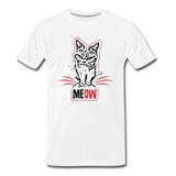 Angry Cat - Men's Premium T-Shirt - white