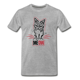 Angry Cat - Men's Premium T-Shirt - heather gray