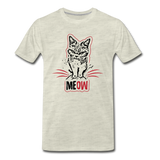 Angry Cat - Men's Premium T-Shirt - heather oatmeal