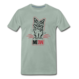 Angry Cat - Men's Premium T-Shirt - steel green
