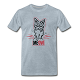Angry Cat - Men's Premium T-Shirt - heather ice blue