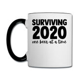 2020 - Surviving One Beer - Contrast Coffee Mug - white/black