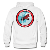 I'd Rather Be Flying - Badge - Gildan Heavy Blend Adult Hoodie - white