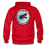 I'd Rather Be Flying - Badge - Gildan Heavy Blend Adult Hoodie - red