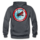 I'd Rather Be Flying - Badge - Gildan Heavy Blend Adult Hoodie - charcoal gray