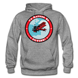 I'd Rather Be Flying - Badge - Gildan Heavy Blend Adult Hoodie - graphite heather