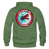 I'd Rather Be Flying - Badge - Gildan Heavy Blend Adult Hoodie - military green
