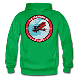 I'd Rather Be Flying - Badge - Gildan Heavy Blend Adult Hoodie - kelly green