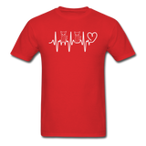 Cat Heartbeat - Unisex Classic T-Shirt - red