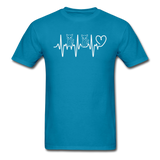 Cat Heartbeat - Unisex Classic T-Shirt - turquoise
