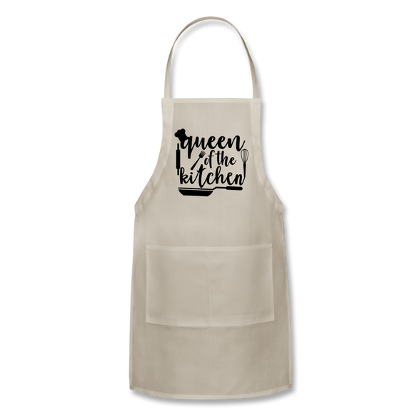 Queen Of The Kitchen - Adjustable Apron - natural