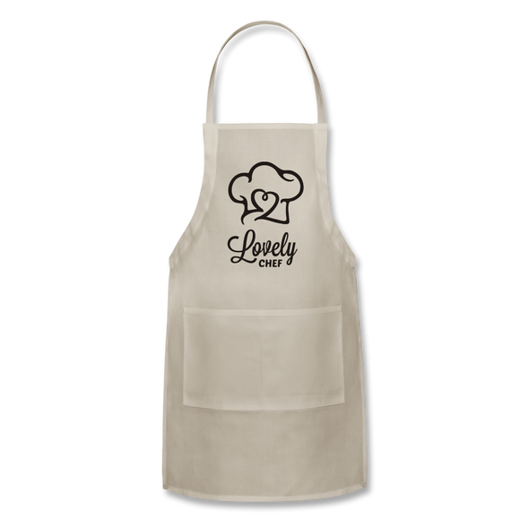 Lovely Chef - Adjustable Apron - natural