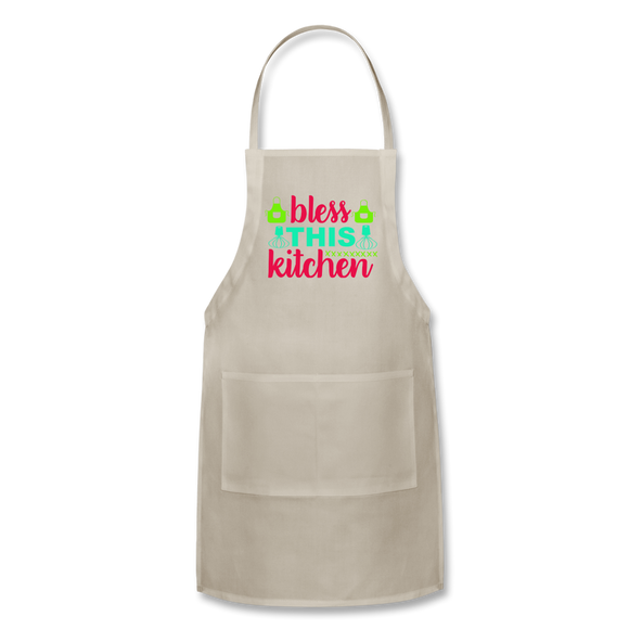 Bless This Kitchen - Adjustable Apron - natural