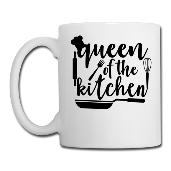 Queen Of The Kitchen - Coffee/Tea Mug - white