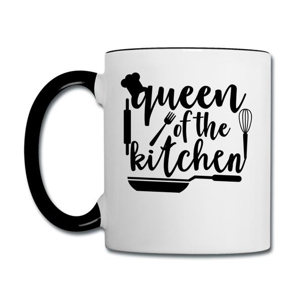 Queen Of The Kitchen - Contrast Coffee Mug - white/black