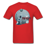 NASA - Astronaut And Planets - Unisex Classic T-Shirt - red