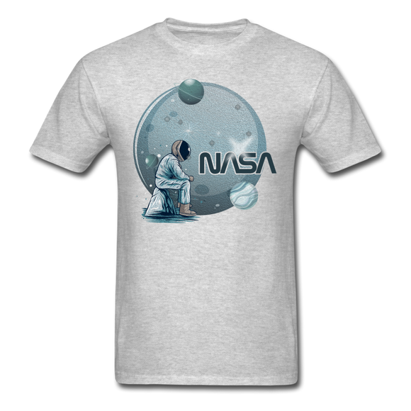 NASA - Astronaut And Planets - Unisex Classic T-Shirt - heather gray