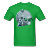 NASA - Astronaut And Planets - Unisex Classic T-Shirt - bright green