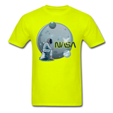 NASA - Astronaut And Planets - Unisex Classic T-Shirt - safety green