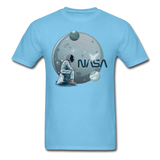 NASA - Astronaut And Planets - Unisex Classic T-Shirt - aquatic blue