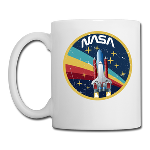 NASA - Shuttle - Grunge - Coffee/Tea Mug - white