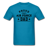 Proud Air Force - Dad - Unisex Classic T-Shirt - turquoise
