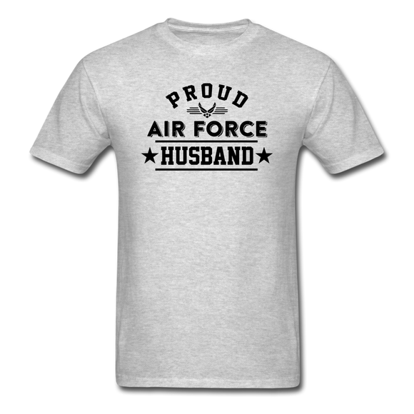 Proud Air Force - Husband - Unisex Classic T-Shirt - heather gray