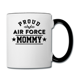 Proud Air Force - Mommy - Contrast Coffee Mug - white/black