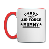 Proud Air Force - Mommy - Contrast Coffee Mug - white/red