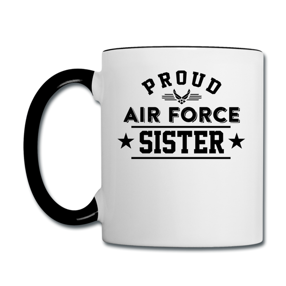 Proud Air Force - Sister - Contrast Coffee Mug - white/black