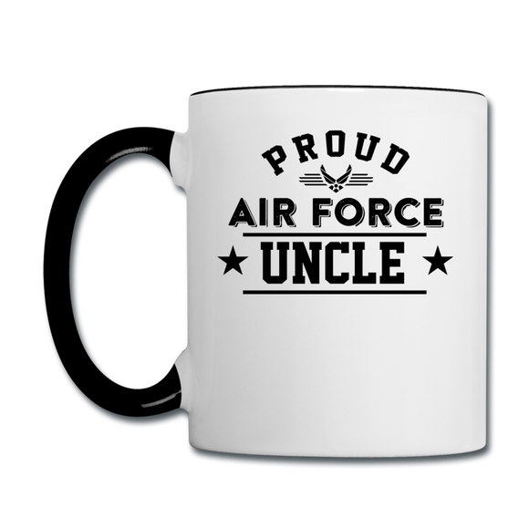 Proud Air Force - Uncle - Contrast Coffee Mug - white/black