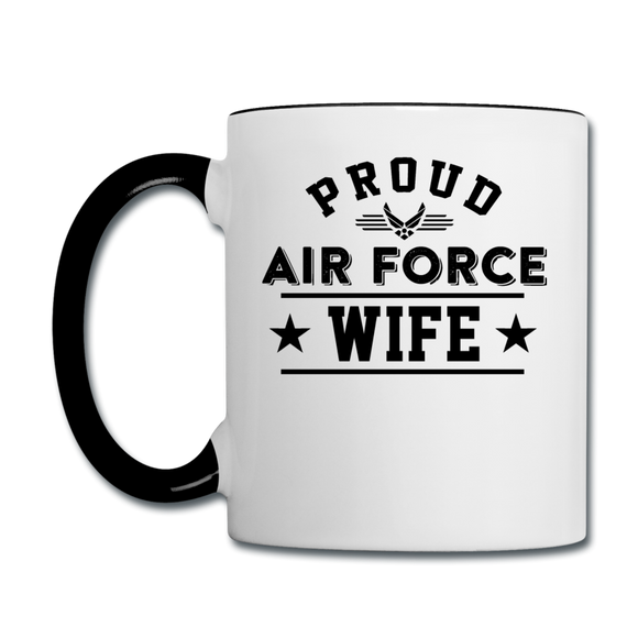Proud Air Force - Wife - Contrast Coffee Mug - white/black