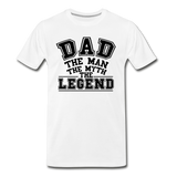 Dad the Legend - Men's Premium T-Shirt - white