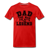 Dad the Legend - Men's Premium T-Shirt - red