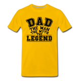 Dad the Legend - Men's Premium T-Shirt - sun yellow