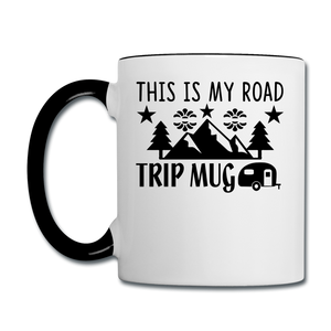 This Is My Road Trip Mug - Camping v2 - Contrast Coffee Mug - white/black