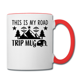 This Is My Road Trip Mug - Camping v2 - Contrast Coffee Mug - white/red