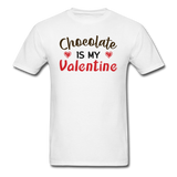 Chocolate Is My Valentine v1 - Unisex Classic T-Shirt - white