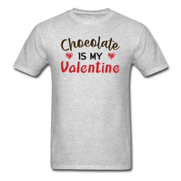 Chocolate Is My Valentine v1 - Unisex Classic T-Shirt - heather gray