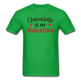 Chocolate Is My Valentine v1 - Unisex Classic T-Shirt - bright green